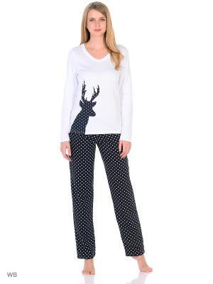 Пижама Flip. Цвет: белый, черный