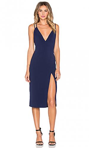 Платье shine on NBD. Цвет: синий