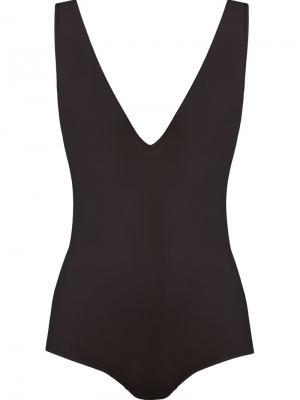 Deep v-neck tulle bodysuit Giuliana Romanno. Цвет: розовый и фиолетовый