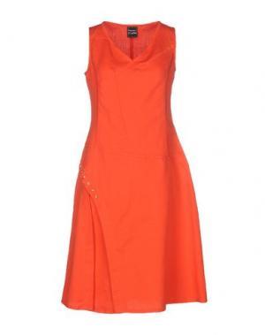 Платье до колена PAUSE CAFÉ. Цвет: красный