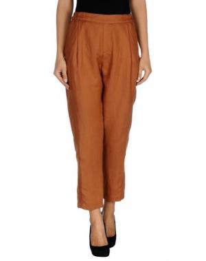 Повседневные брюки TUA NUA. Цвет: коричневый