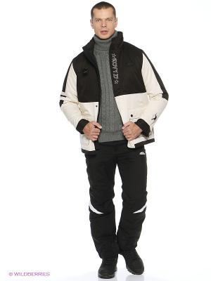 Куртка утепленная Forward. Цвет: черный, молочный