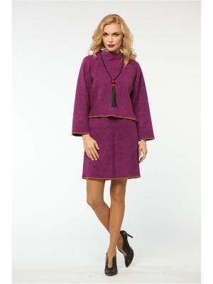 Костюм: жакет, юбка KATA BINSKA. Цвет: лиловый