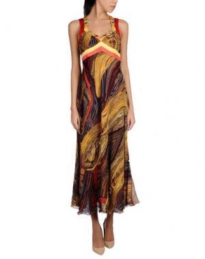Платье длиной 3/4 ANGELO MARANI. Цвет: желтый