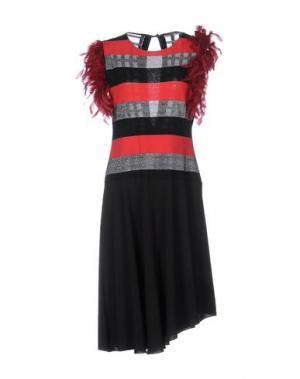 Платье до колена DV Roma. Цвет: черный