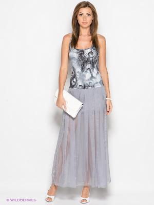 Платье SUGARLIFE. Цвет: серый, черный