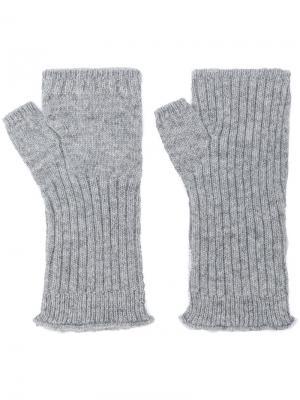 Перчатки без пальцев Undercover. Цвет: серый