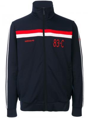 Спортивная куртка 83-C Adidas Originals. Цвет: синий