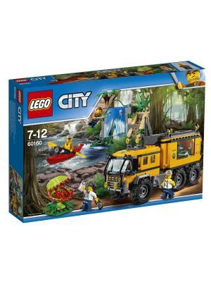 City Jungle Explorer Передвижная лаборатория в джунглях 60160 LEGO. Цвет: синий