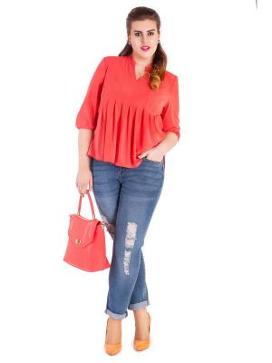 Блузки Vix&Vox. Цвет: персиковый