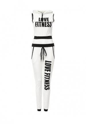 Костюм спортивный Edge Clothing. Цвет: белый