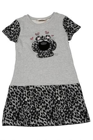Платье VIADELLEPERLE VDP. Цвет: 119, серый, черный