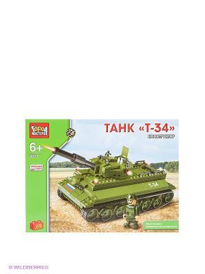 Конструктор Танк Т-34 Город мастеров. Цвет: хаки, салатовый