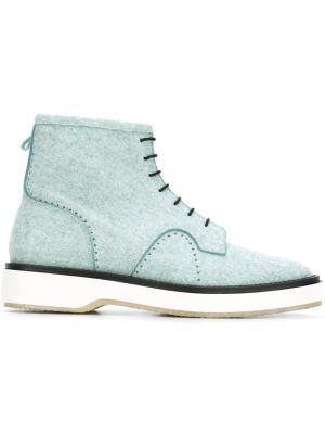 Ботинки на шнуровке Adieu Paris. Цвет: синий