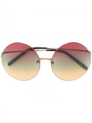 Солнцезащитные очки с круглыми линзами Matthew Williamson. Цвет: многоцветный
