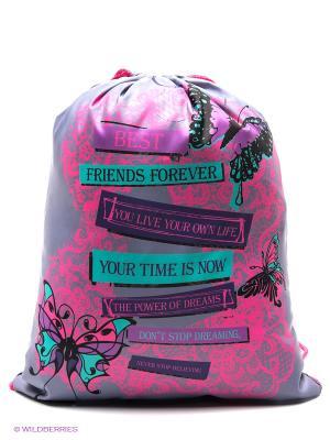 Мешок для обуви КРУЖЕВА Centrum. Цвет: розовый