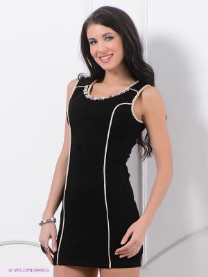 Платье ZARGA. Цвет: черный, бежевый