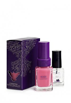 Лак для ногтей Christina Fitzgerald. Цвет: розовый