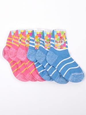 Носки ЕСКО. Цвет: розовый, синий