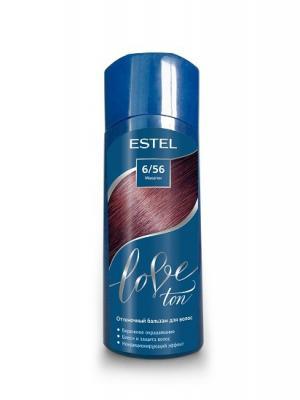 Оттеночный бальзам для волос ESTEL LOVE TON 6/56 Махагон. Цвет: бордовый