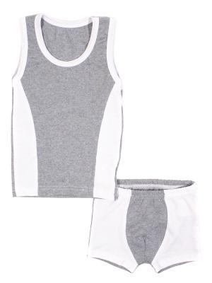 Комплект белья Iva Moss'o. Цвет: серый, белый