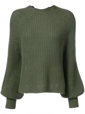 Mock turtle neck jumper Apiece Apart. Цвет: зелёный