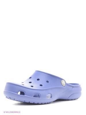 Сабо CROCS. Цвет: фиолетовый, сливовый, голубой