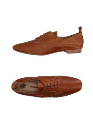 Обувь на шнурках MALÌPARMI. Цвет: желто-коричневый