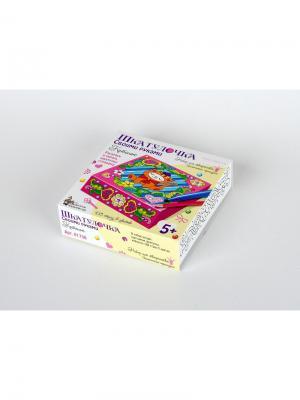 Набор для творчества. Шкатулка Котенок (раскрась и укрась) 168 стразов (150х150) Десятое королевство. Цвет: голубой, коричневый, розовый