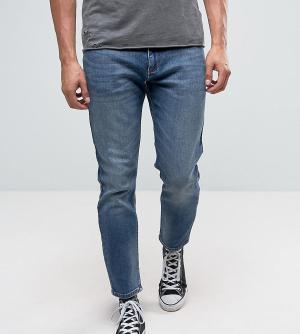 Rollas Синие суженные книзу джинсы Tommy. Цвет: синий