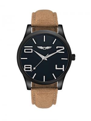 Часы наручные okami. Цвет: черный, коричневый