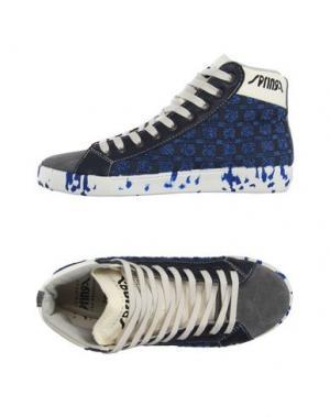 Высокие кеды и кроссовки SPRINGA. Цвет: синий