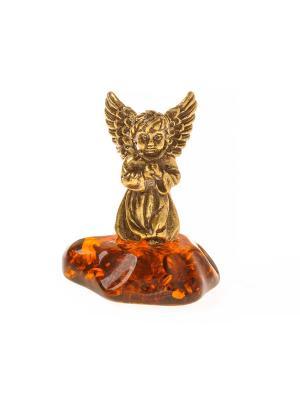 Фигура Ангел с крыльями стоит Aztek. Цвет: желтый, коричневый, светло-оранжевый