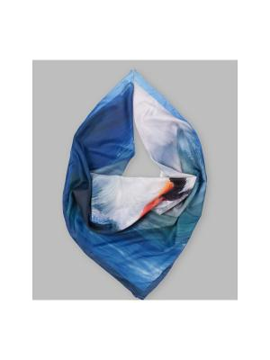 Арт-платок Белые крылья Оланж Ассорти. Цвет: голубой