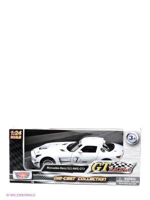 Машина GT Racing  Mercedes Benz SLS АMG GT3 Motormax. Цвет: белый