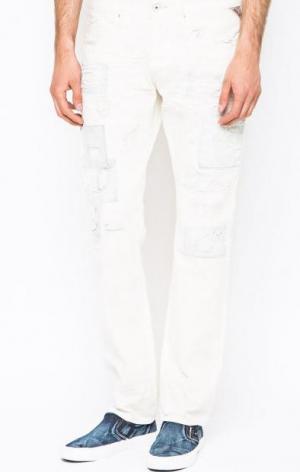 Зауженные белые джинсы Replay. Цвет: белый