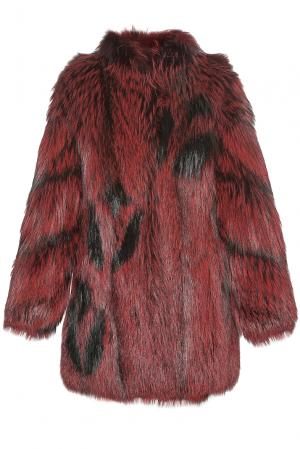 Шуба из меха лисы 182003 Helen Yarmak. Цвет: красный