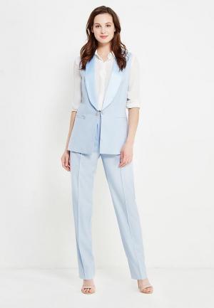 Комплект жилет и брюки Mazal. Цвет: голубой