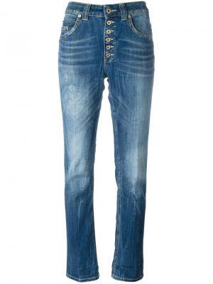 Прямые джинсы на пуговицах Dondup. Цвет: синий
