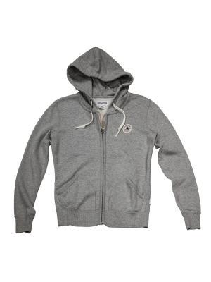 Толстовка Knitted womens LS zip hoodie Converse. Цвет: серый