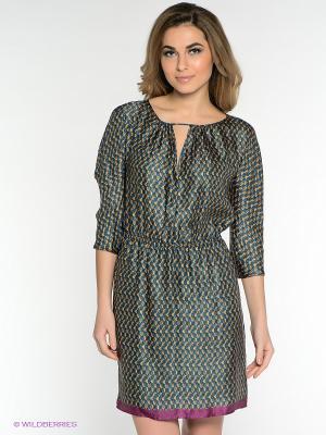 Платье MICHELLE WINDHEUSER. Цвет: синий, светло-коричневый, лиловый