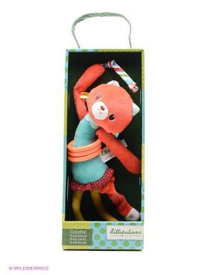 Кошечка Коллет Развивающая игрушка Lilliputiens. Цвет: бирюзовый, коралловый, розовый, желтый, голубой, зеленый