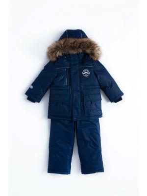 Комплект (куртка+полукомбинезон) NELS. Цвет: темно-синий