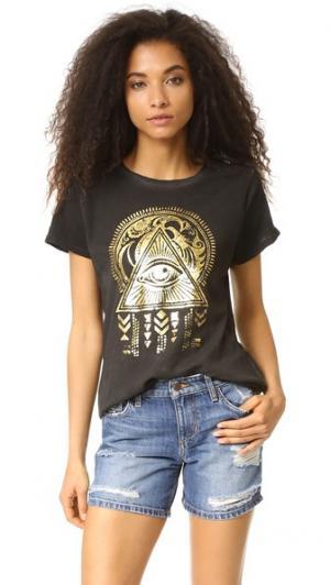 Футболка Egyptian Mystical Prince Peter. Цвет: черный винтажный