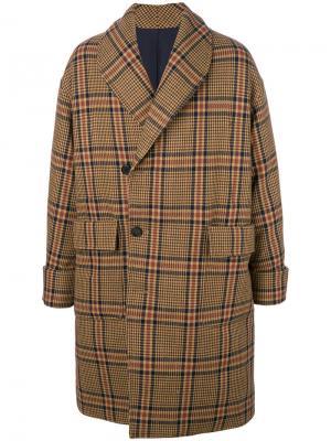 Пальто со смещенной застежкой Wooyoungmi. Цвет: коричневый