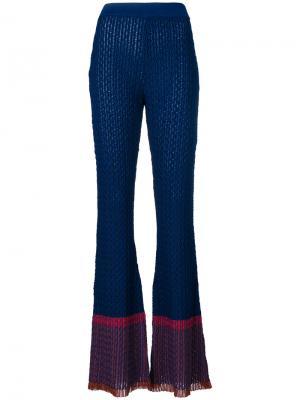 Расклешенные брюки Stella McCartney. Цвет: синий