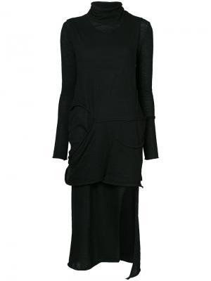 Deconstructed stretch dress Barbara I Gongini. Цвет: чёрный
