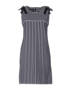 Короткое платье PF PAOLA FRANI. Цвет: темно-синий