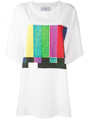 Oversized printed front T-shirt Facetasm. Цвет: белый