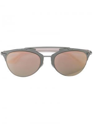 Солнцезащитные очки с зеркальными линзами Dior Eyewear. Цвет: розовый и фиолетовый